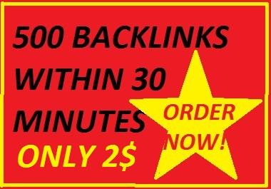 I will do 500 directory backlinks