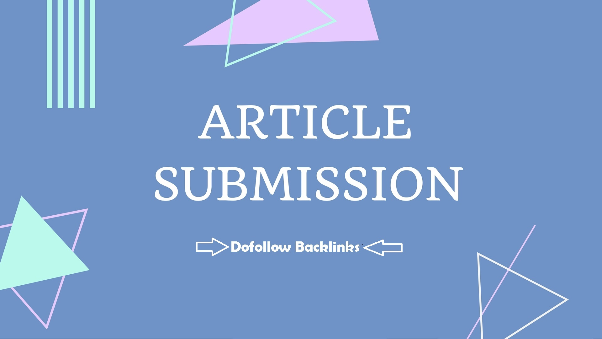 i will create 10 article submission