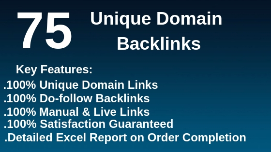 I will do 75 unique domain high quality blog comment
