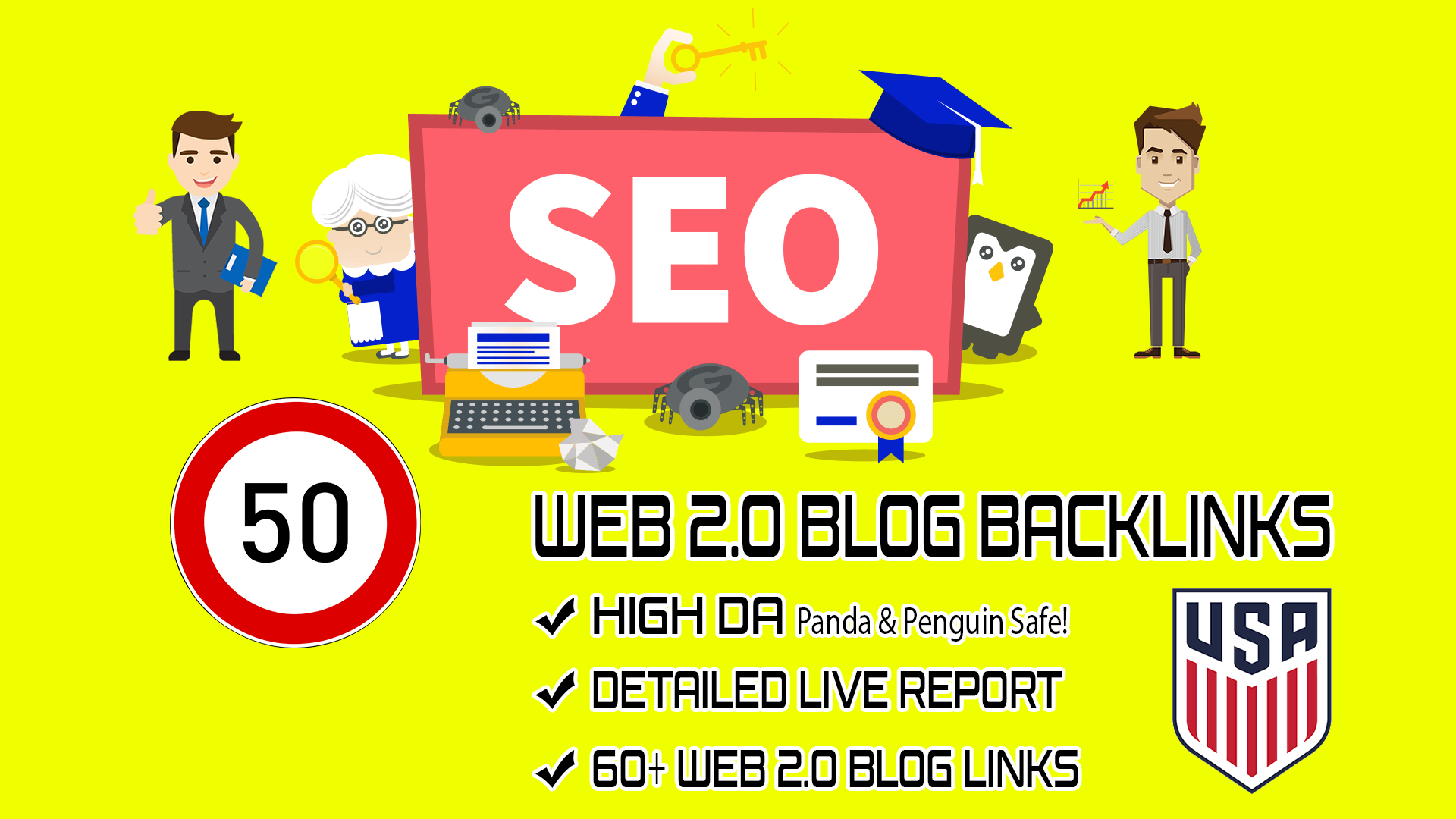 Provide You 50+ White Hat Web 2.0 Backlinks On High Authority Sites