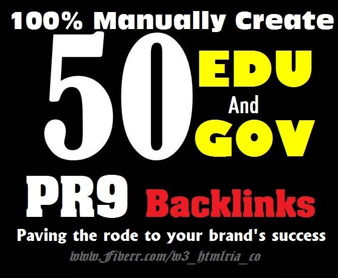 I Will Boost Your Website 25 Edu Gov+25 pr9 Backlinks With Google SEO Ranking