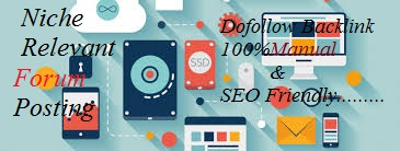 I can do 9 niche relevant forum post for your website