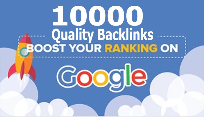 I will build 10000 high quality contextual backlinks to boost your rankings in google