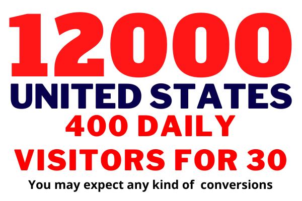 Get USA Targeted,  12,000 Visitors Web Traffic