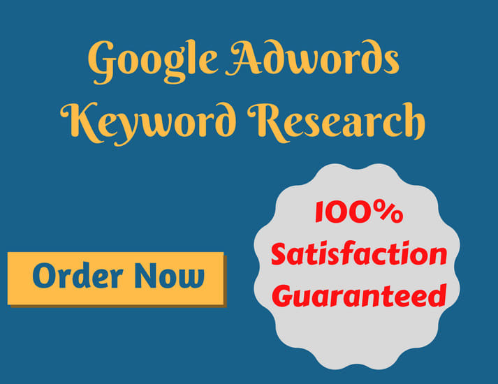 I will do keyword research for google adwords PPC campaign