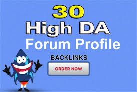 Provide 30 Forum Profile Post Backlinks