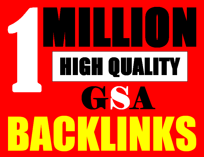 1M verified GSA High-Quality & Powerful SEO Backlink for websites, videos to achieve your goal