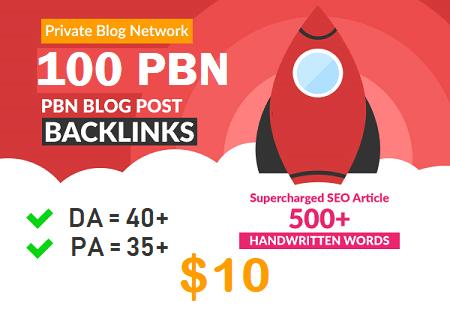 DA 40+ PA 35+ web2.0 100 pbn in unique 100 site