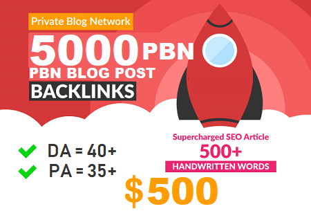 DA 40+ PA 35+ pr 5+ web 2.0 5000 PBN UNIQUE 5000 sites