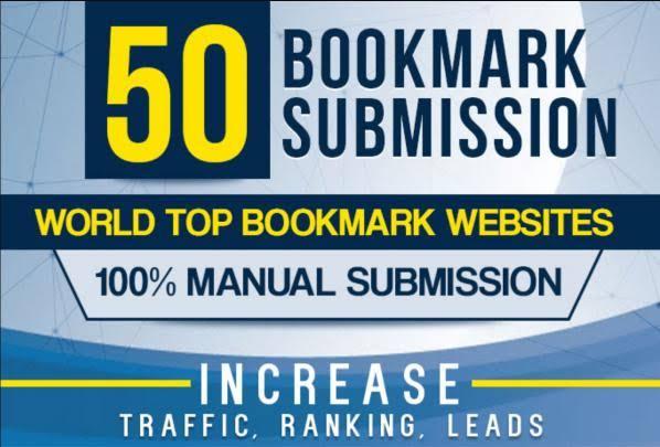 manually 50 bookmark backlinks,  high pa da