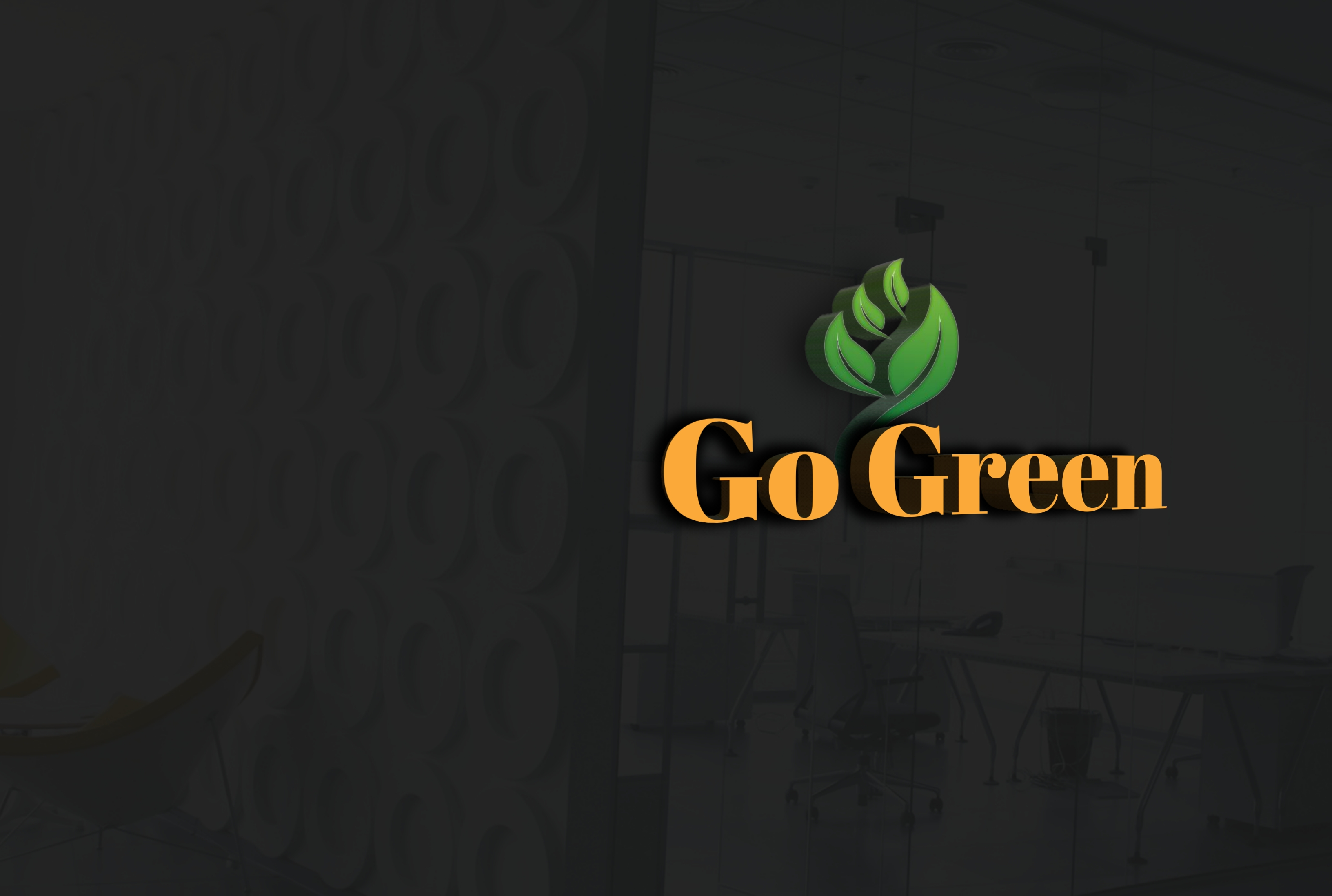 I will do do 3d text logo design
