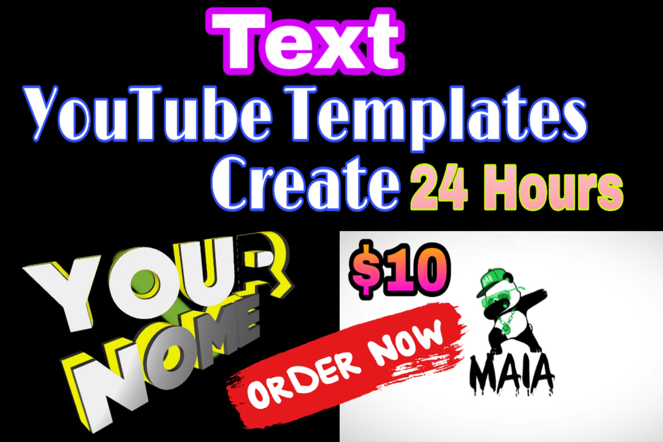 I well do text templates create on youtube
