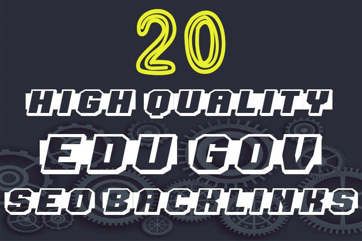 create 20 high trust authority edu and gov SEO backlinks service