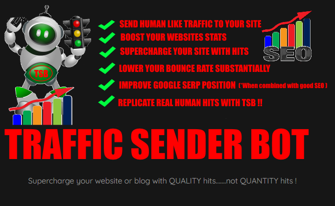 I will give you Traffic Sender Bot lifetime licence