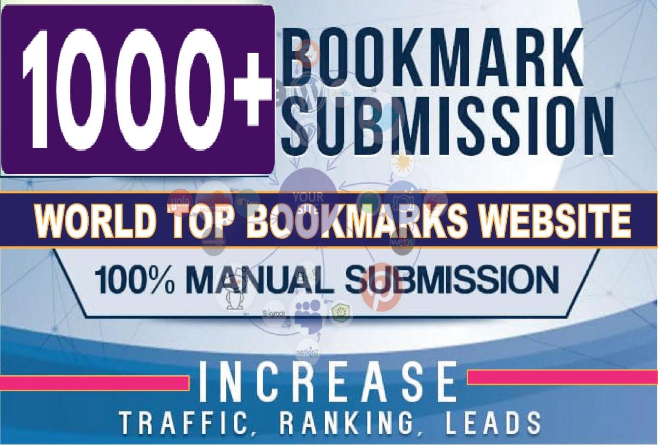 Add 1000 HQ Social Bookmarks Backlinks For Your Website On PR10 To PR1 Sites