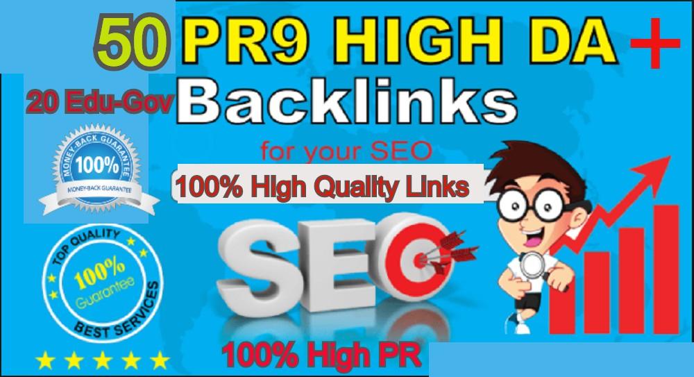 70 AZ Backlinks From 50 PR9 + 20 EDU GOV Backlinks From Authority Domain