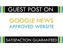 I will guest post on google news approved site