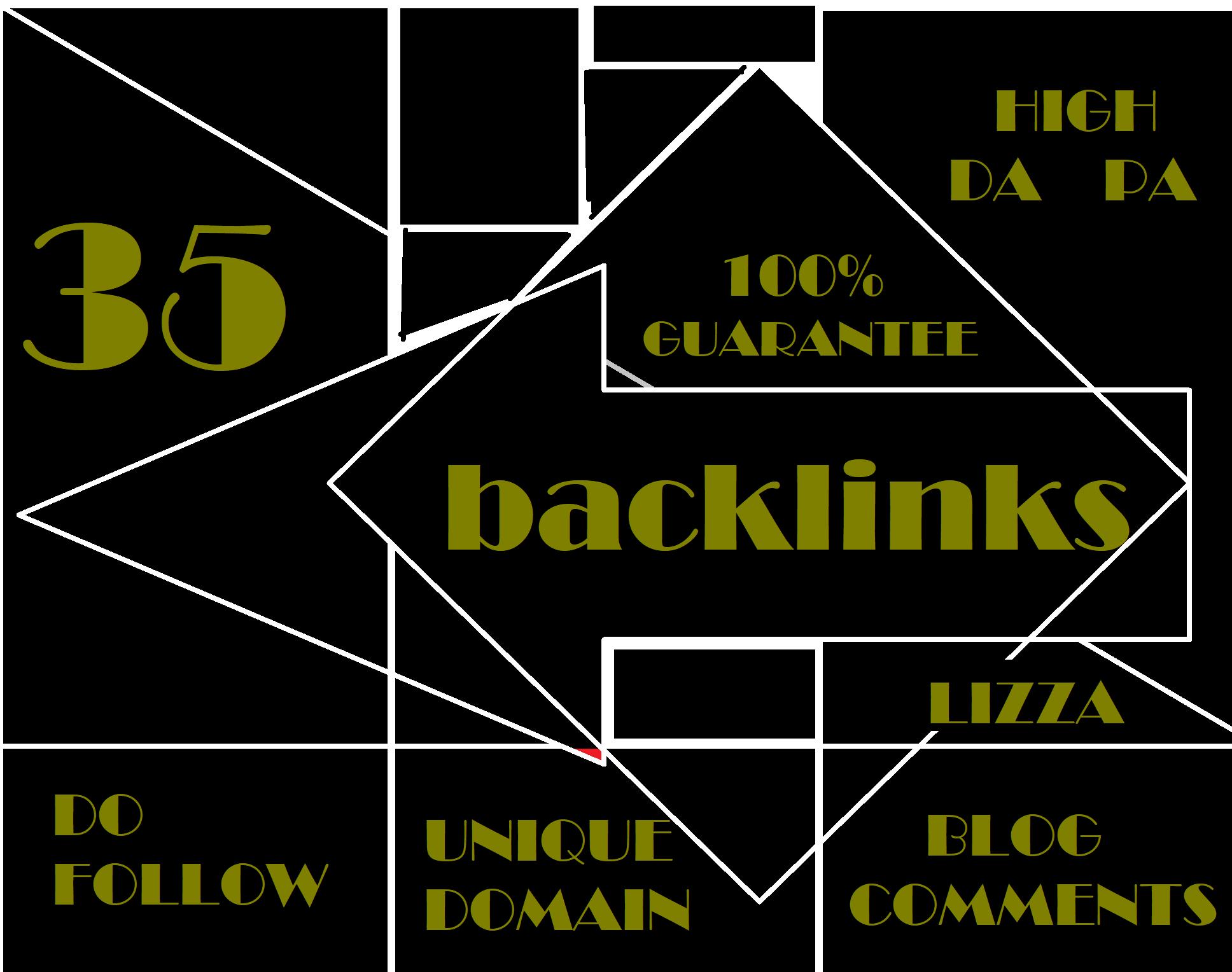 provide 35 backlinks unique domain High DA PA Do follow blog comments