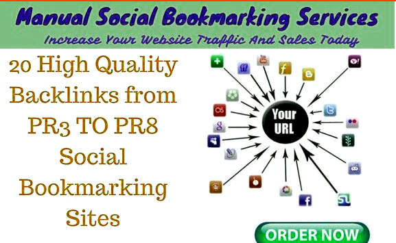 Submit your website or blog Powerful PR3- PR9 Social bookmark backlinks