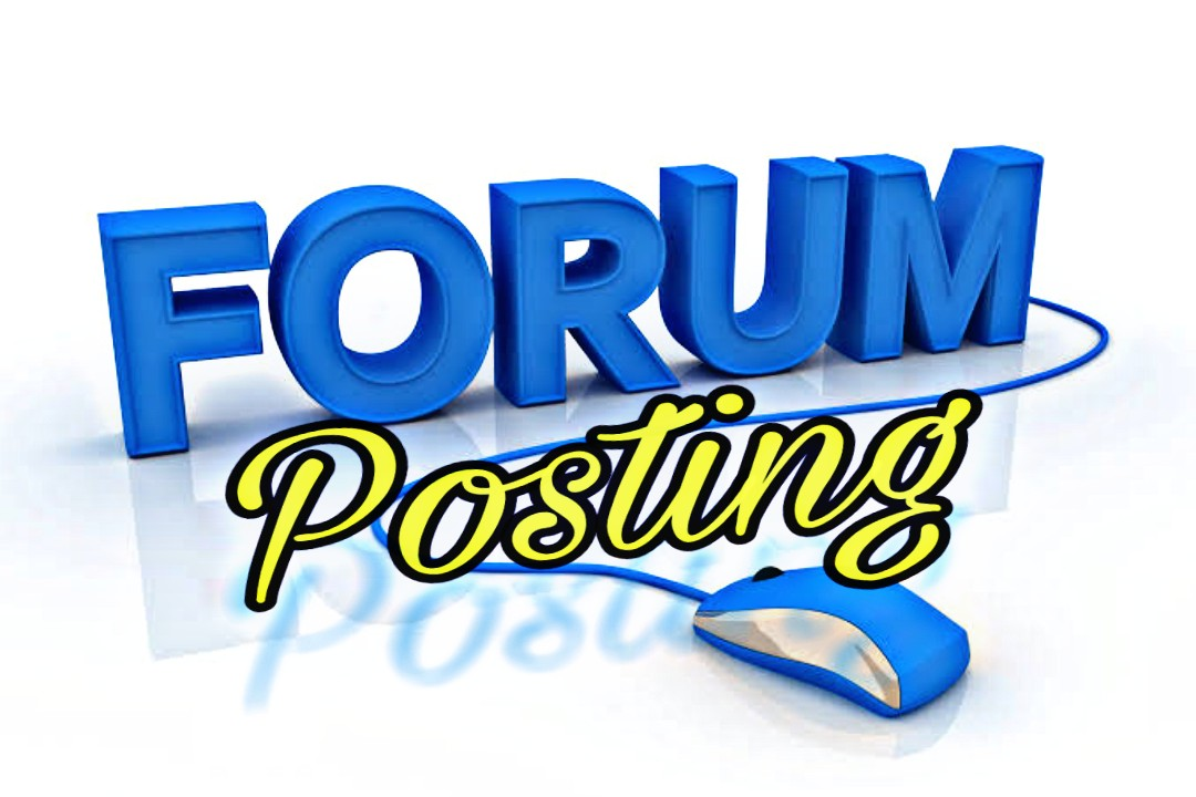Offer 40 High Quality Forum Posting Backlinks