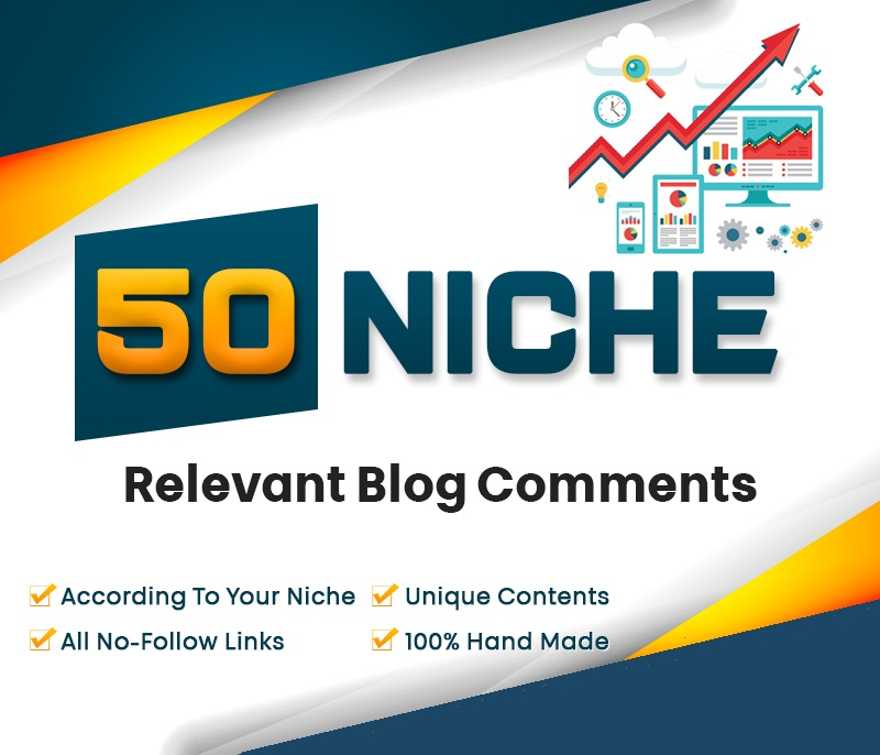 I will do 50 niche relevant blog comment nofollow backlinks