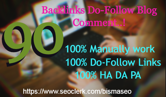 I will provide 90 unique do-follow backlinks DA30+