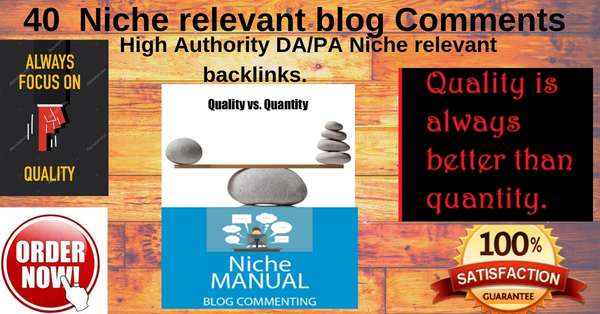 I will do niche relevant backlinks nofollow