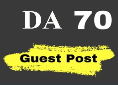I will provide guest post on DA 70 plus sites