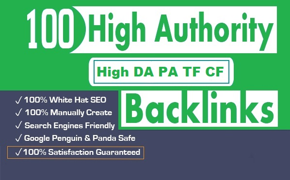 Build 100 Latest Backlinks from High DA PA TF CF Site For increase your google top ranking