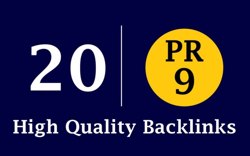 20 Pr9 80+ DA High-Quality SEO Domain Authority Permanent Backlinks
