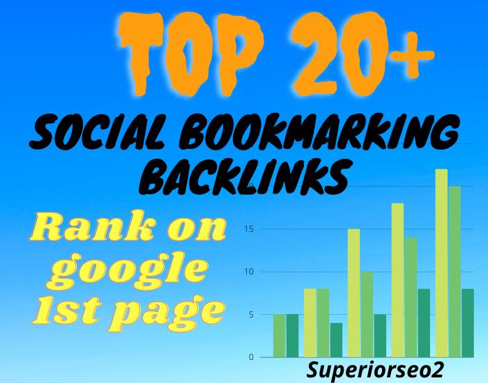 Build 20+ Social Bookmark SEO Safe Authority Profile Backlinks
