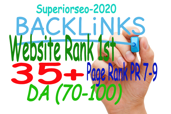 Manually Created 35+ PR9 Backlinks DA 80-100 Help your Website Increased Google Rank top 1st