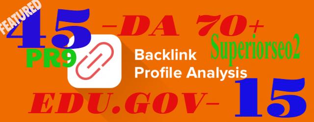 Build 45 PR9 DA 70-100 + 15 EDU/GOV SEO Backlinks With High-Trust Authority Permanent Links