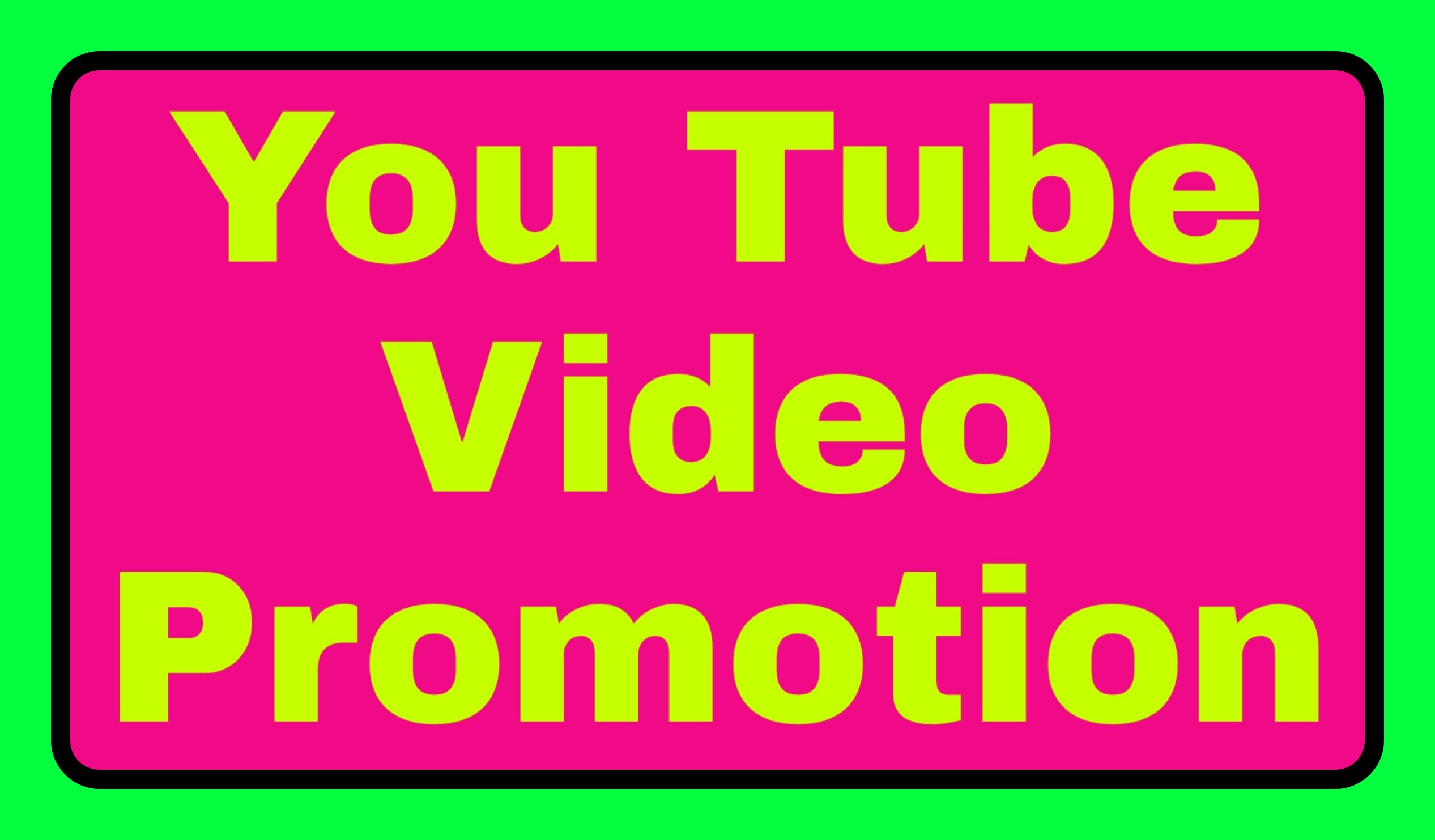 Video Promotion High Quality Real User Instant Start & Fast delivery