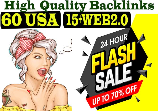 Create 60 USA Profile and 15+ Web2.0 High Quality Dofollow Backlinks