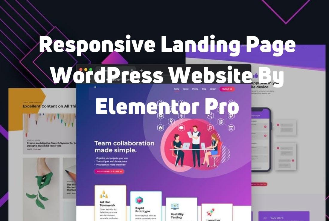 I will design well responsive modern look wordpress,  elementor landing page