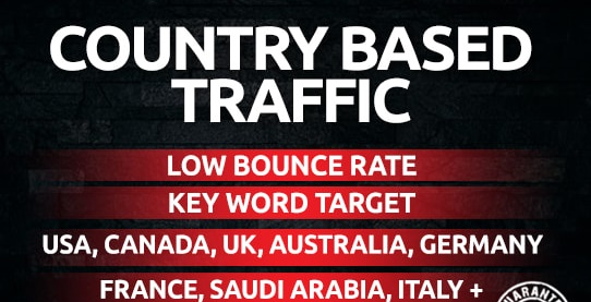 unlimited country keyword target traffic for websites, blogs