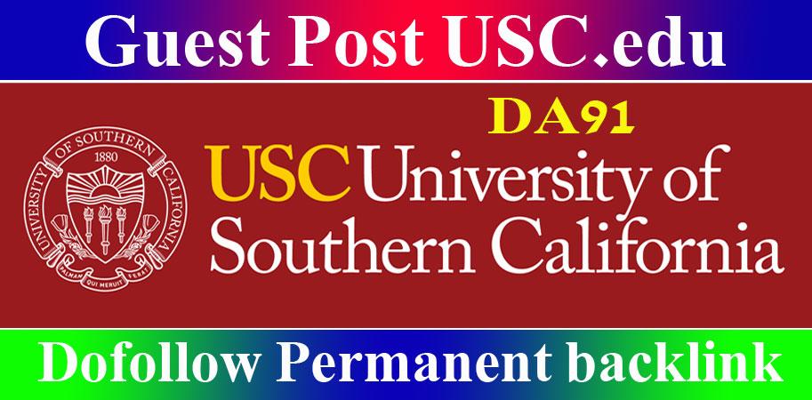 Publish Edu Guest Post on Usc. edu blog DA 91 DR 90