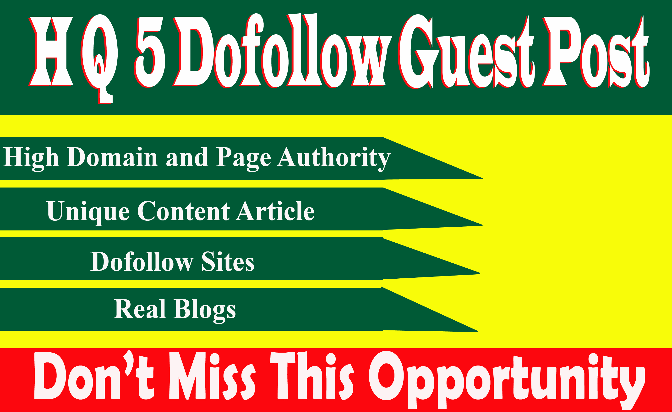 Write And Publish 5 dofoll0w Guest Posts On High Traffic DA 89+ Sites With permanent backlinks