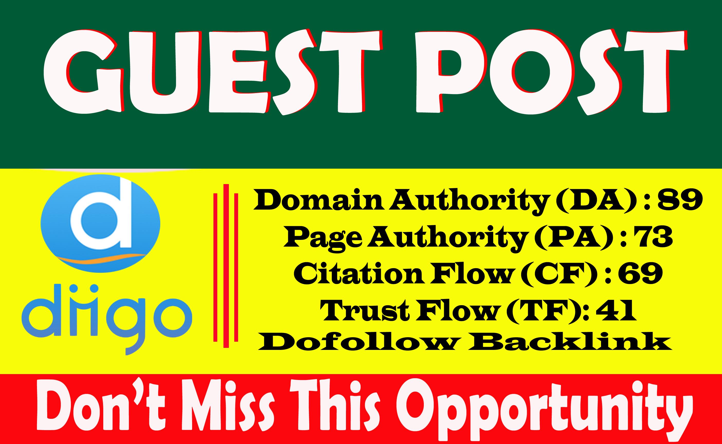 Write And Publish A Dofoll0w Guest Blog Post On Diigo. com DA89 With permanent backlinks