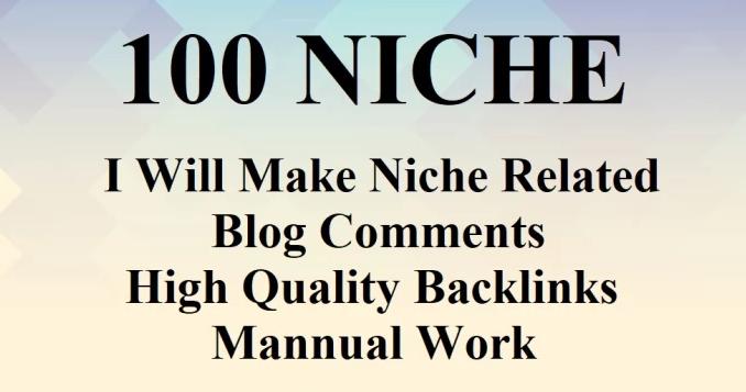 100 unique niche relevant blog comment backlinks
