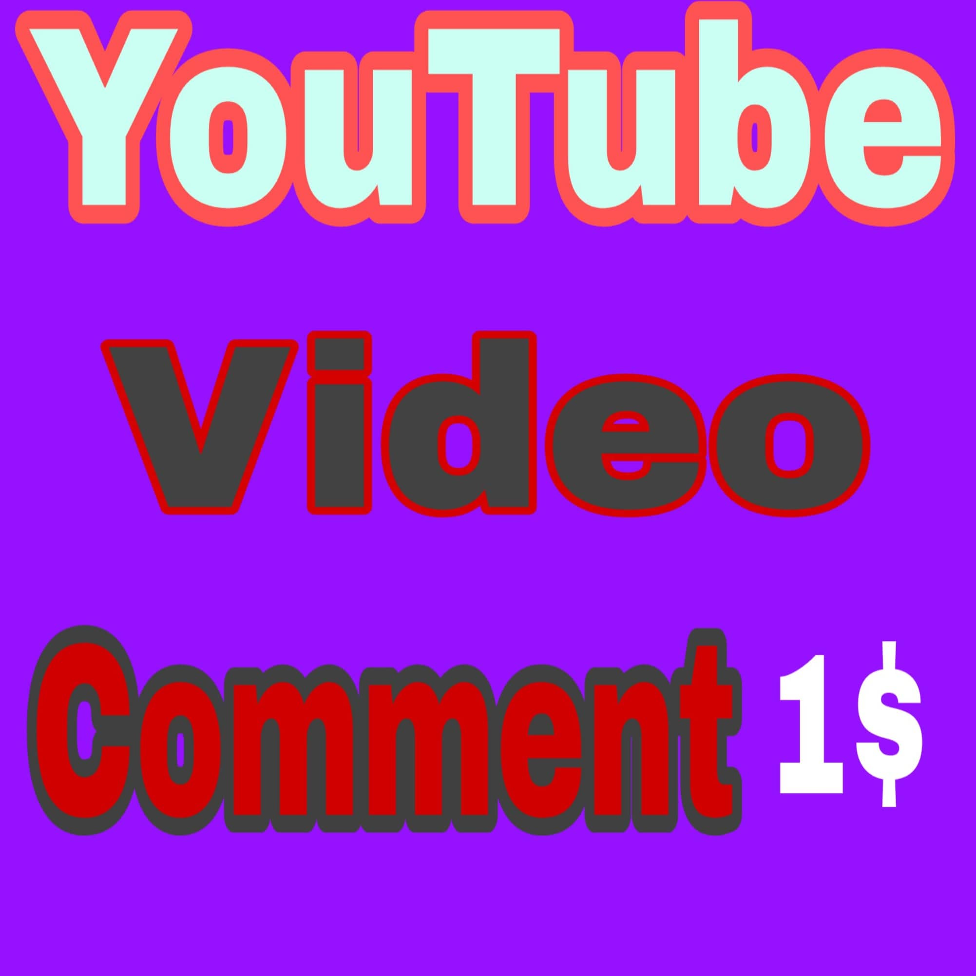 You Tube viedo promotion real user Instant delivery one for1