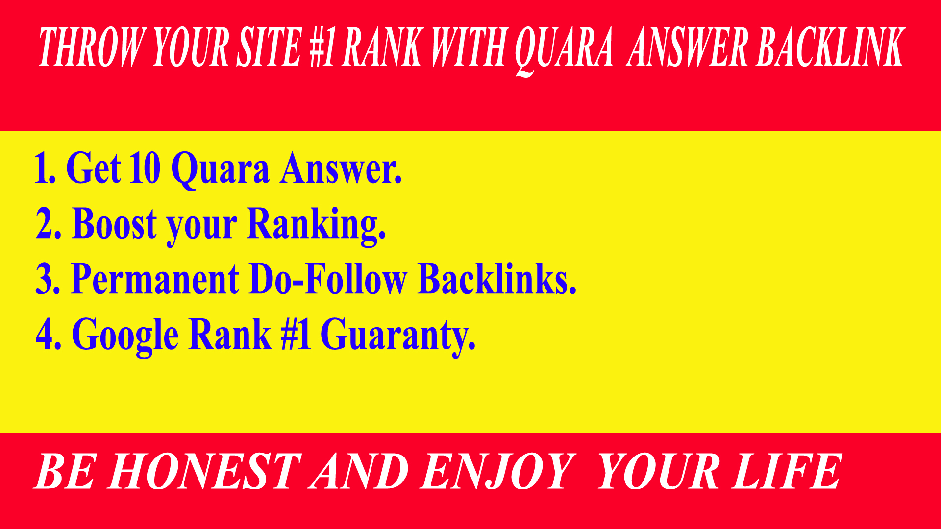 I Will Provide 10 High Quality Quara Answer backlinks for rank up your site