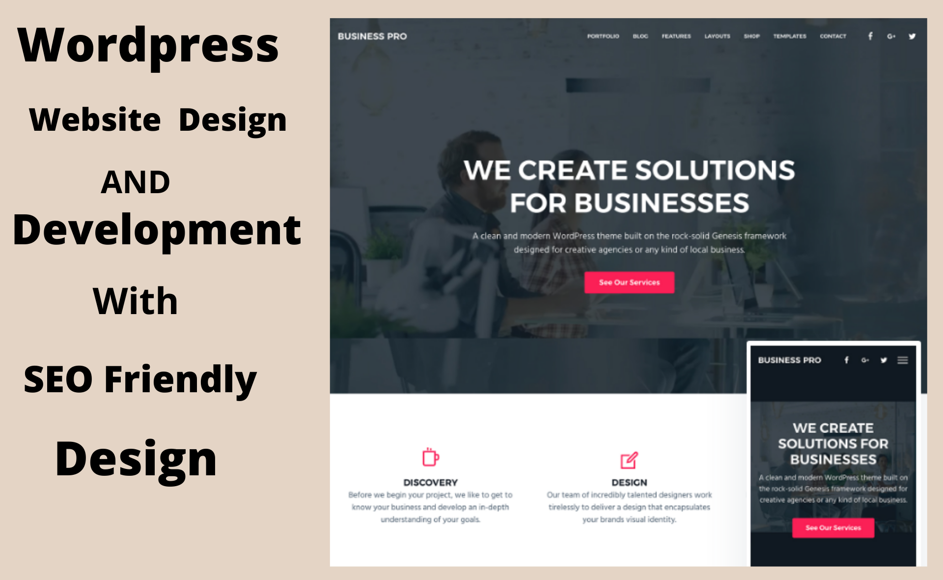 I Will build Seo friendly responsive wordpress website design and development
