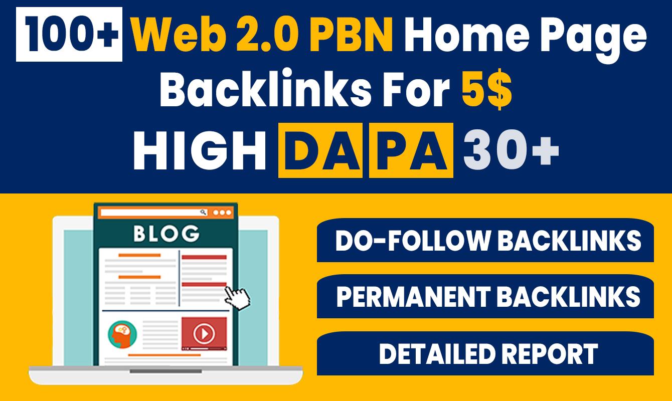 100+ High DA PA Permanent Web 2.0 PBN Home Page Back-links