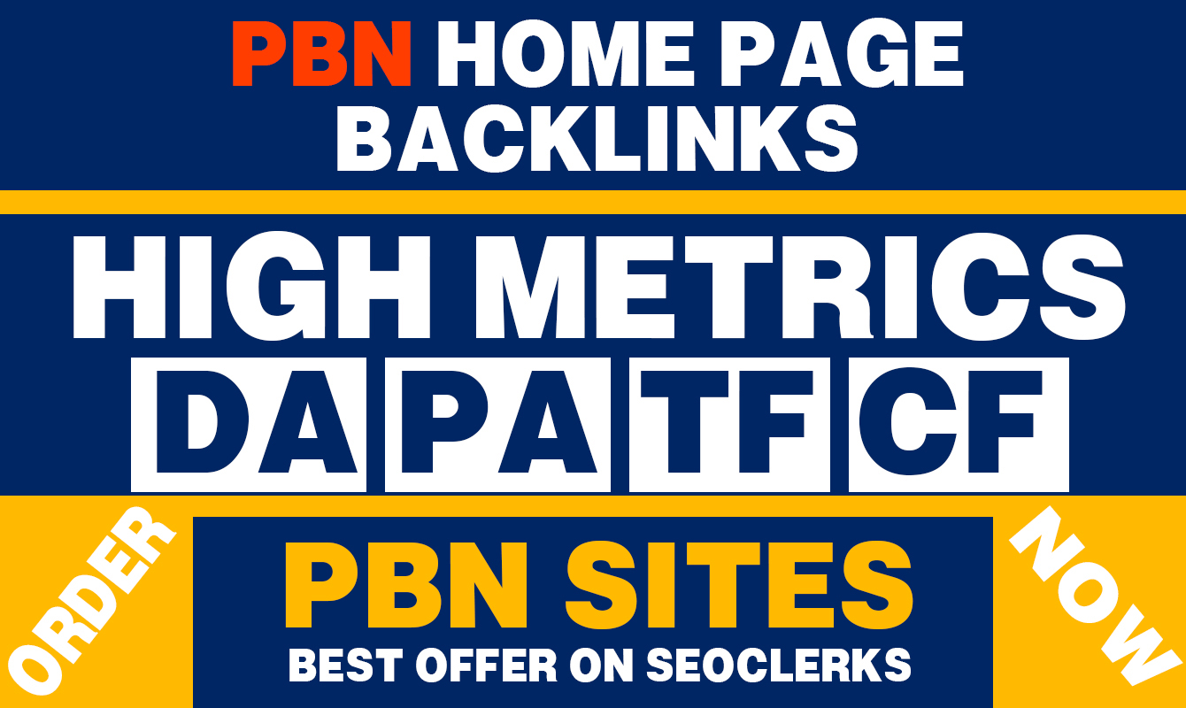 Build 20 Contextual PBN High DA PA 25+ Home Page Dofollow Backlinks