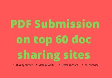 PDF Submission on top 60 document sharing sites manually