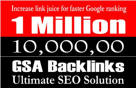I will build 10,000, 00 gsa backlinks for faster ranking on google