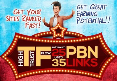 10 post from HIGH AUTHORITATIVE BLOGS Strong Contextual PBN links High TF Min 25+ Max 35+