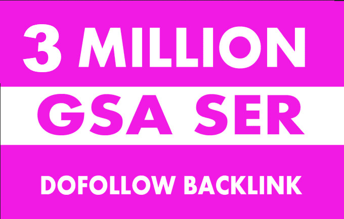 I will 3 million high quality gsa ser backlinks for multi tiered link building